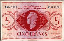 AEF 5 Francs 1944 - Marian, Lorraine\'s Cross - BB043.828