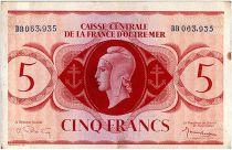 AEF 5 Francs 1944 - Marian, Lorraine\'s Cross - BB063.935