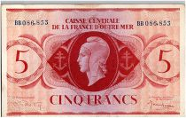 AEF 5 Francs 1944 - Marian, Lorraine\'s Cross - BB086.853