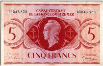 AEF 5 Francs 1944 - Marianne , croix de Lorraine - BB043.830