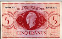 AEF 5 Francs 1944 - Marianne , croix de Lorraine - BB086.853
