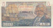 AEF 5 Francs Bougainville - 1947 Serial O.26-75933