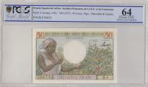 AEF 50 Francs Coffee-tree - 1957 - PCGS 64