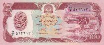 Afghanistan 100 Afghanis Paysan - Barrage hydroélétrique