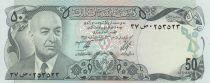 Afghanistan 50 Afghanis Pres. Muhammad Daud - Yaks - 1977