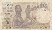 África del oeste francesa 10 Francs 1949 - Hunters - Serial R.64