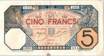 África del oeste francesa 5 Francs Lion - Dakar 10-04-1924 Serial C.2302