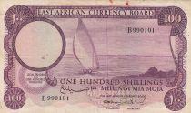 Afrique de l\'Est Britannique 100 Shillings Bateau - 1964 - P.48a - TTB