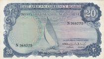 Afrique de l\'Est Britannique 20 Shillings Bateau - 1964 - P.47a - TTB