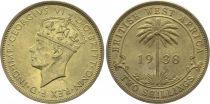 Afrique de l´Ouest Britannique 2 Shillings George VI - Palmier 1938