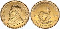 Afrique du Sud 1/2 Kruggerand Paul Kruger - Springbok 1984 - Or