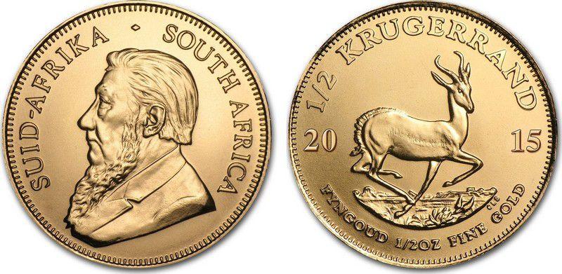 Afrique du Sud 1/2 Kruggerand Paul Kruger - Springbok 2015