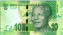 Afrique du Sud 10 Rand Nelson Mandela - Rhinocéros, anneaux - 2015