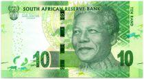 Afrique du Sud 10 Rand Nelson Mandela - Rhinocéros, anneaux