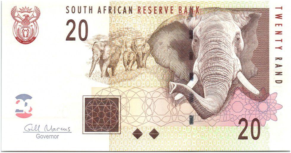Afrique du Sud 20 Rand Eléphants - Mine 2009
