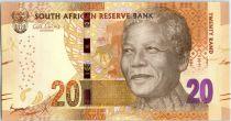Afrique du Sud 20 Rand Nelson Mandela - Eléphants, anneaux - 2013