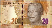 Afrique du Sud 20 Rand Nelson Mandela - Eléphants, anneaux - 2015