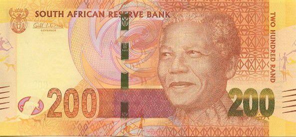 Afrique du Sud 200 Rand Nelson Mandela - Léopards - 2012