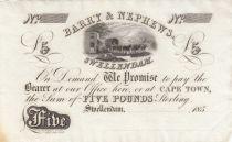 Afrique du Sud 5 Pounds, Chariot à Boeufs - 185x - Barry and Nephews - SPL