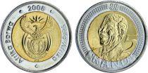 Afrique du Sud 5 Rand, Nelson Mandela - 2008 Bimetal - SPL