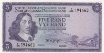 Afrique du Sud 5 Rand 1967-74 - Jan Van Riebeeck - Mine