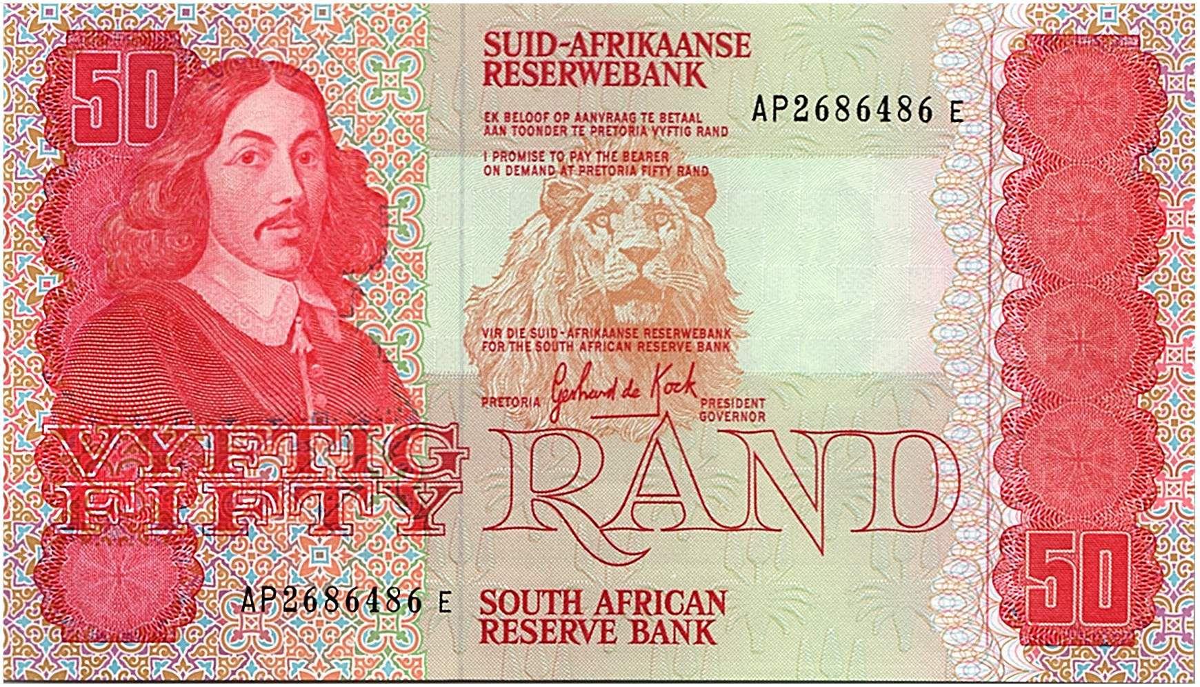 Afrique du Sud 50 Rand 1984  - Jan Van Riebeeck - Animaux