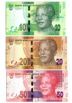 Afrique du Sud Série 3 billets  - Nelson Mandela - Madiba - 2018
