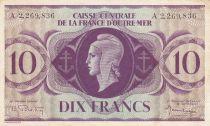 Afrique Equatoriale Française 10 Francs Marianne 1944 - Série A - P.16d - TTB