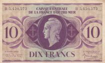 Afrique Equatoriale Française 10 Francs Marianne 1944 - Série B - P.16e - TTB