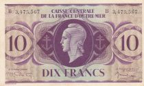 Afrique Equatoriale Française 10 Francs Marianne 1944 - Série B 3.475.567 - P.16e - SUP