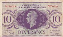 Afrique Equatoriale Française 10 Francs Marianne 1944 - Série FJ734.029