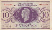 Afrique Equatoriale Française 10 Francs Marianne 1944 - Série FZ - P.16b - TTB+