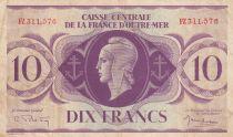 Afrique Equatoriale Française 10 Francs Marianne 1944 - Série FZ - P.16b