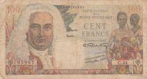 Afrique Equatoriale Française 100 Francs - La Bourdonnais -1947 - Série C.44