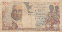 Afrique Equatoriale Française 100 Francs - La Bourdonnais -1947 - Série H.103