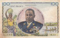 Afrique Equatoriale Française 100 Francs Félix Eboué - 1957 -  Série B.15