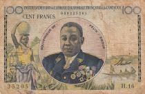 Afrique Equatoriale Française 100 Francs Félix Eboué ND1957 - Série H.16