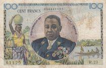 Afrique Equatoriale Française 100 Francs ND1957 - Félix Eboué, femme, pirogues, navire