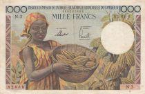 Afrique Equatoriale Française 1000 Francs EAF et Cameroun - 1957 Série N.3