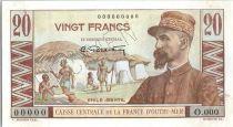 Afrique Equatoriale Française 20 Francs Emile Gentil - 1946 -  Spécimen