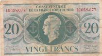 Afrique Equatoriale Française 20 Francs Marianne 1944 - Série LG 058.077 - P.17b - TB