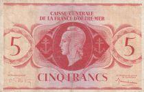 Afrique Equatoriale Française 5 Francs 1944 - France libre, croix de Lorraine - Sans série