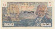 Afrique Equatoriale Française 5 Francs Bougainville - 1947 Série O.26-75932