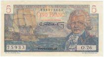 Afrique Equatoriale Française 5 Francs Bougainville - 1947 Série O.26-75933