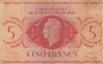 Afrique Equatoriale Française 5 Francs Marianne 1944 - sans série