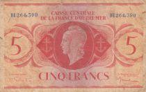 Afrique Equatoriale Française 5 Francs Marianne 1944 - Série BE 264.390