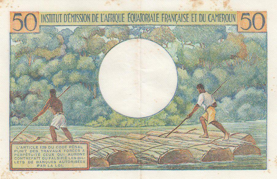 Afrique Equatoriale Française 50 Francs AEF et Cameroun - 1957 Série B.9 - SUP