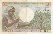 Afrique Equatoriale Française 50 Francs AEF et Cameroun - 1957 Série B.9 - TTB
