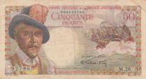 Afrique Equatoriale Française 50 Francs Belain d\'Esnambuc - 1947 Série M.26