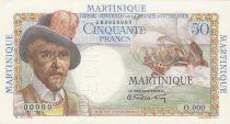 Afrique Equatoriale Française 50 Francs Belain d\'Estambuc - 1947 Spécimen O.000